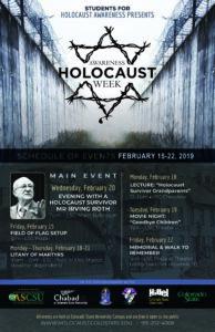 Holocaust Awareness Week Poster
