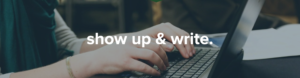 Show Up and Write Logo