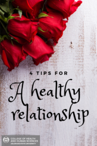 A healthy relationship poster