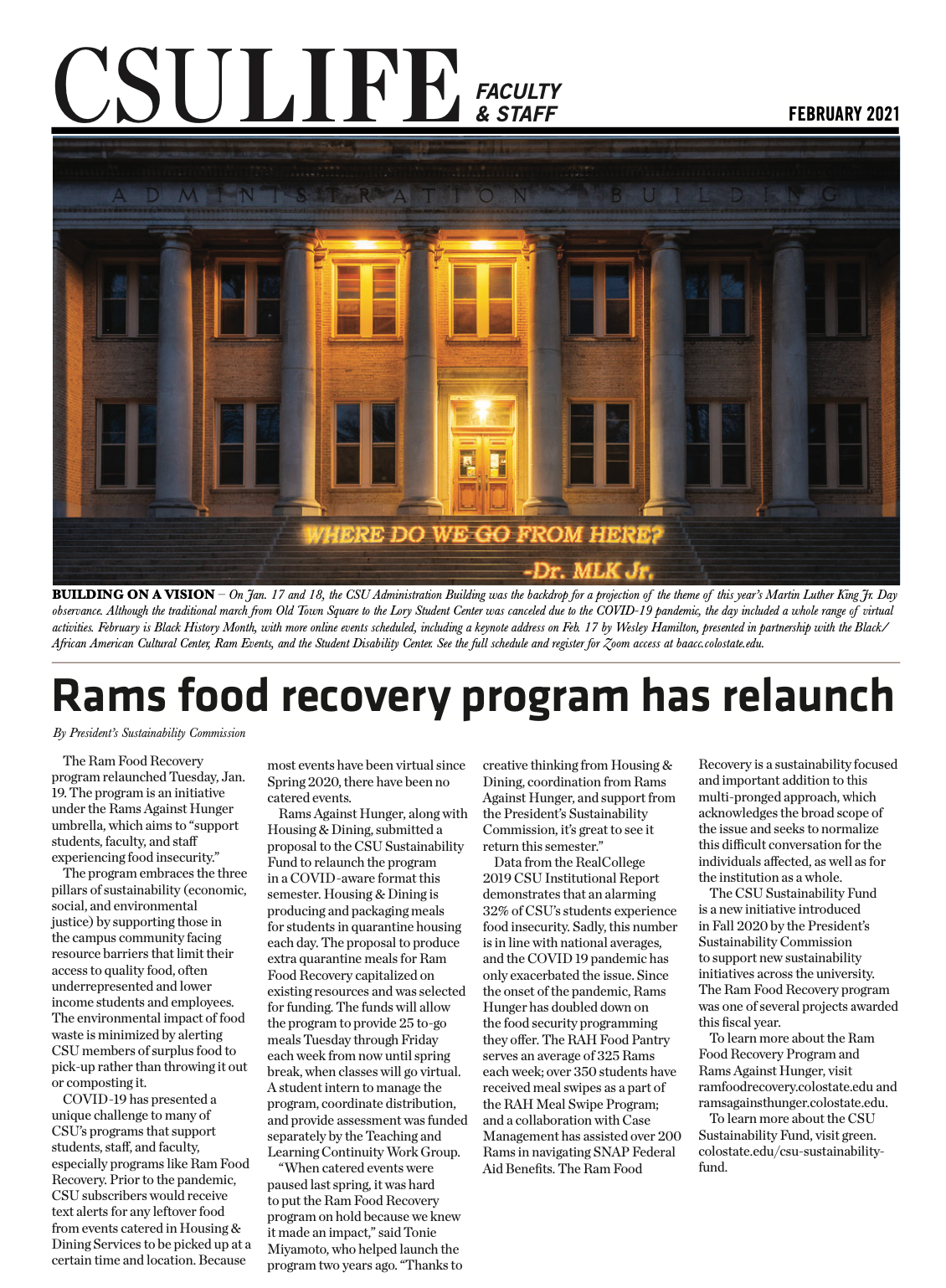 CSU Life Front Page